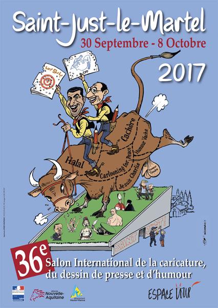 Festival du dessin de presse et d'humour de St Just le Martel 2017
