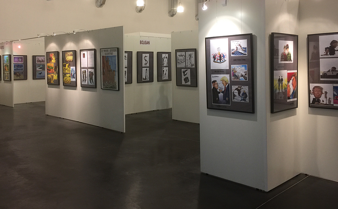 L'expo avant l'arrivée du public